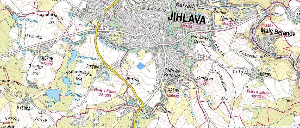 Pozemek Jihlava